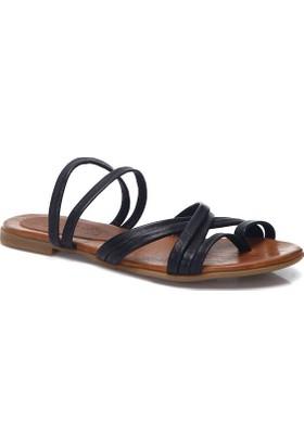 Deristudio Yb9050 Siyah Kadın Sandalet
