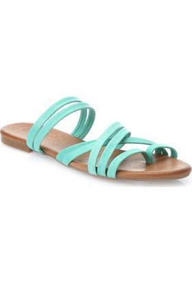 Deristudio Yb9050 Yeşil Kadın Sandalet
