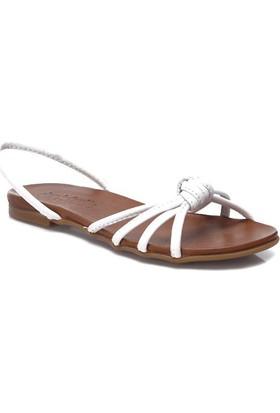 Deristudio Yb9059 Beyaz Kadın Sandalet