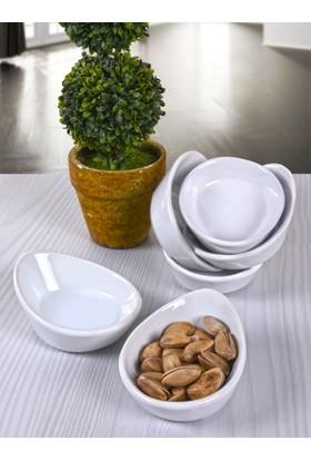 Keramika 6 Parça 8 Cm Mini Gondol Beyaz Çerezlik