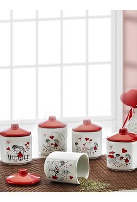 Keramika 10 Parça 10 Cm Kera Mira Köşem Baharat Takımı