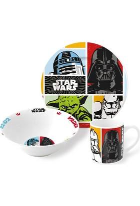 Disney Starwars Porselen 3'lü Beslenme Seti