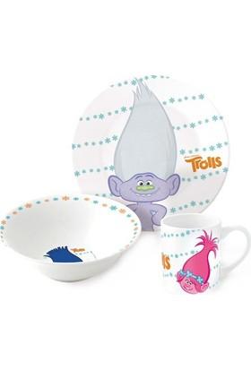 Disney Troll Porselen 3'lü Beslenme Seti