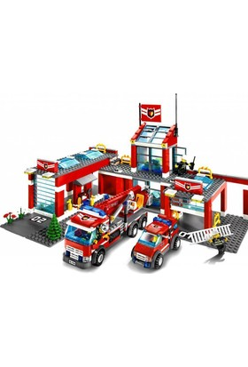 Cogo Büyük Boy İtfaiye Oyun Seti 1075 Parça Lego