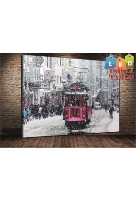Rumeli Tablo Karlı Taksim Kanvas Tablo 60x90