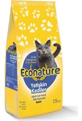 Econature Balıklı Yetişkin Kedi Maması 15 Kg