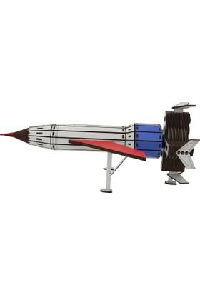 Wooden Age Ahşap Uzay Aracı Roket T1-IR