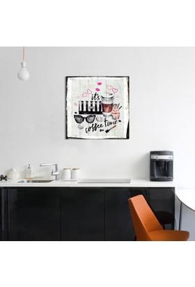 Coffee Time Ahşap Tablo 30x30