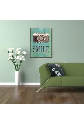 Ahşap Çerçeveli Smile Ahşap Tablo 50x70