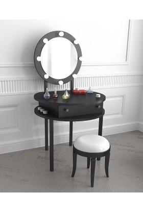 Akçelik Aydınlatmalı Aynalı Kulis Makyaj Masası