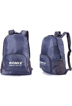 Romix Katlanabilir ve Taşınabilir Sırt Çantası- Lacivert