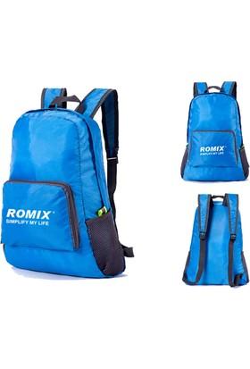 Romix Katlanabilir ve Taşınabilir Sırt Çantası- Mavi