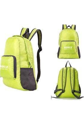 Romix Katlanabilir ve Taşınabilir Sırt Çantası- Yeşil