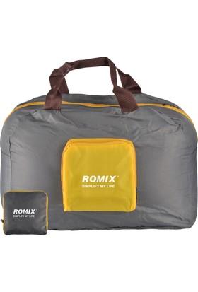 Romix Katlanabilir ve Taşınabilir Seyahat Çantası- Gri