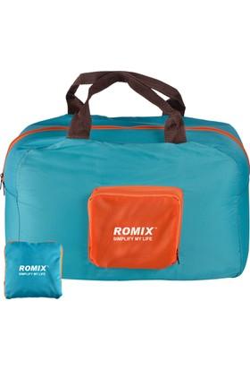 Romix Katlanabilir ve Taşınabilir Seyahat Çantası- Mavi