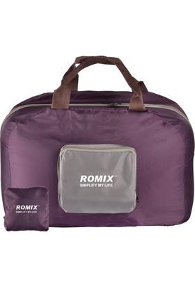 Romix Katlanabilir ve Taşınabilir Seyahat Çantası- Mor