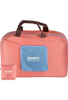 Romix Katlanabilir ve Taşınabilir Seyahat Çantası-Pembe