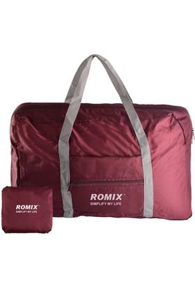 Romix Taşınabilir ve Katlanabilir Seyahat Çantası- Kırmızı