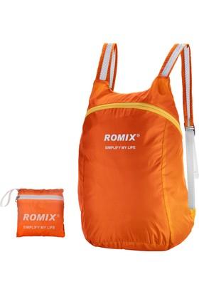 Romix Taşınabilir ve Katlanabilir Sırt Çantası- Turuncu