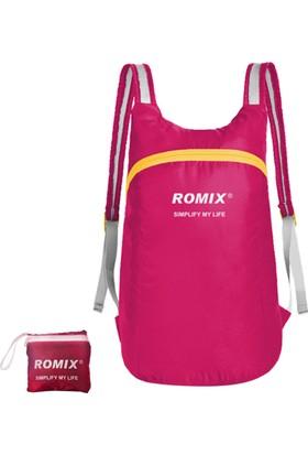 Romix Taşınabilir ve Katlanabilir Sırt Çantası- Pembe