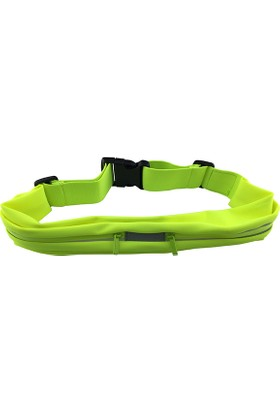 Romix Kemerli Çift Cep Bel Çantası- Yeşil