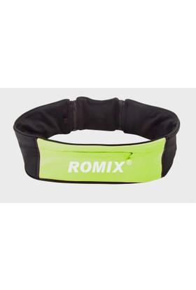 Romix Fermuarlı Bel Çantası L&XL- Yeşil