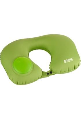 Romix Katlanabilir ve Taşınabilir Seyahat Boyun Yastığı- Yeşil