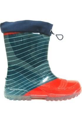 Gezer 409 Yeşil Kırmızı Çocuk Yağmur Çizmesi