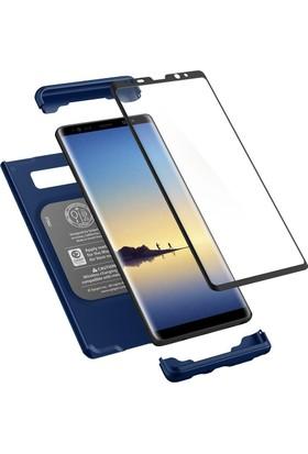 Spigen Samsung Galaxy Note 8 Kılıf Signature Thin Fit 360 Koruma Deepsea Blue (Cam Ekran Koruyuculu) - 587CS22100