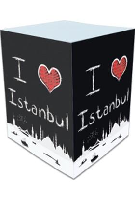 Direktal Bloknot-I Love İstanbul-Küp Notluk