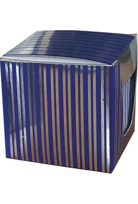 Direktal Bloknot-Karton Kutulu Notluk-Metalik-Mavi