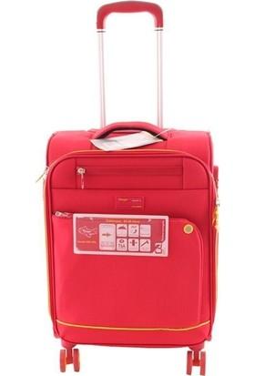 Verage Gm16056W Kabin Boy Kumaş Valiz Kırmızı