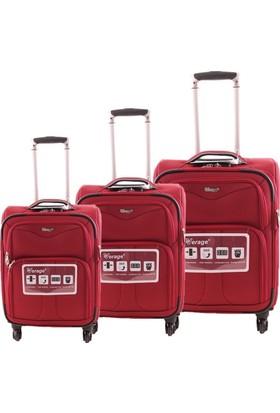 Verage Wt681627W Kumaş Valiz Seti Kırmızı