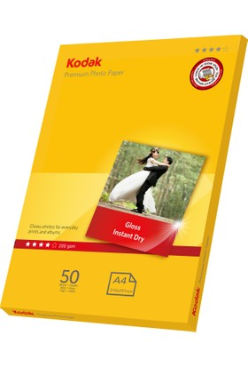 Kodak 200 Gr/m2 20x30-A4 Parlak Fotoğraf Kağıdı - 50 Adet