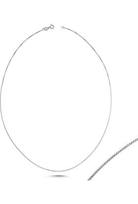 Tevuli Gümüş Kolye 925 Ayar Zincir Ch82849