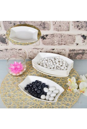Şener Por-100421 6&#39lı Porselen Büyük Kahvaltı Tabağı ve Çerezlik