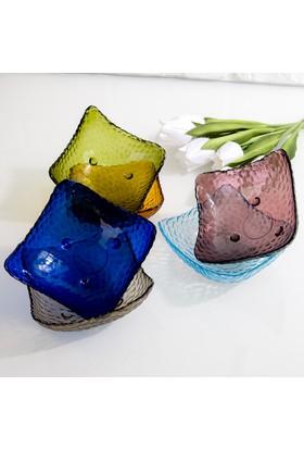 Şener HBP-69 6&#39lı Cam Renkli Kahvaltı Tabağı ve Çerezlik