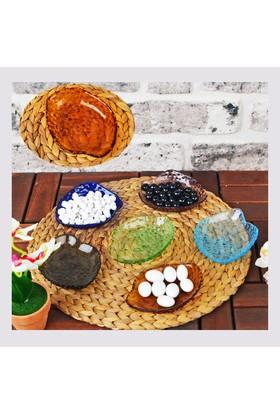 Şener HBP-70 6&#39lı Cam Renkli Kahvaltı Tabağı ve Çerezlik