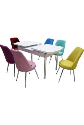 Masa Sandalye Takımı Kutuphome Nora Masa Sandalye Takımı Açılır Masa