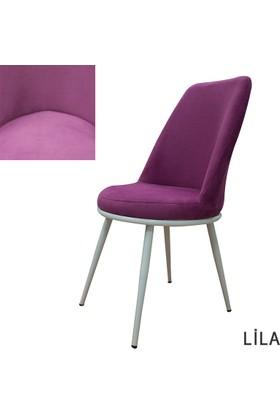 Şato Sandalye Kumaş Mutfak Sandalyesi Lila