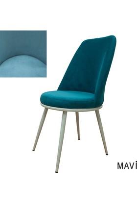 Şato Sandalye Kumaş Mutfak Sandalyesi Mavi