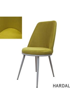Şato Sandalye Kumaş Mutfak Sandalyesi Hardal