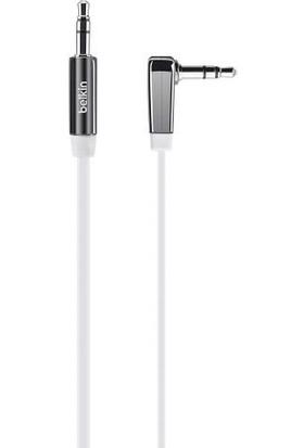 Belkin AV10128CW03-WHT 3.5mm Flat Aux Ses Kablosu 0.9m Beyaz