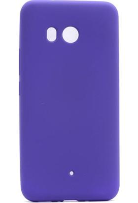 Happyshop HTC U11 Kılıf İnce Mat Soft Silikon+Cam Ekran Koruyucu