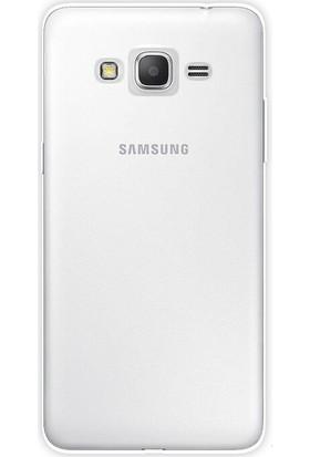 Happyshop Samsung Galaxy J7 Max Kılıf Ultra İnce ŞEffaf Silikon+Cam Ekran Koruyucu