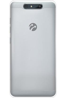 Happyshop Turkcell T80 Kılıf Ultra İnce Şeffaf Silikon+Cam Ekran Koruyucu