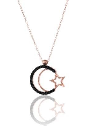 Azuris 925 Ayar Gümüş Ayyıldız Kolye Rchalk1459