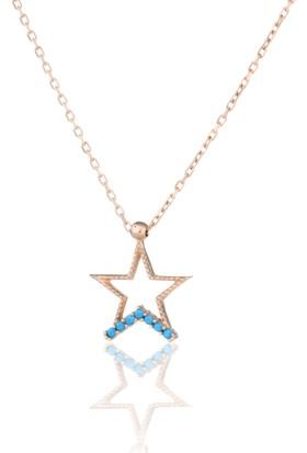 Azuris 925 Ayar Gümüş Yıldız Kolye Rchalk1462