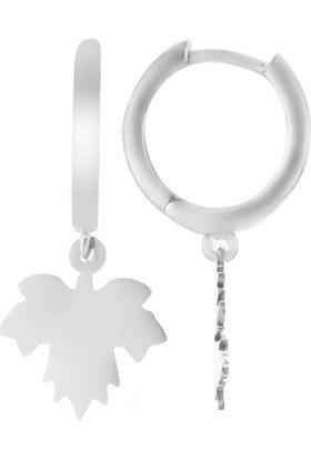 Azuris Silver 925 Ayar Gümüş Çınar Yaprağı Küpe Rchalk2104