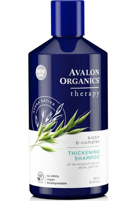 Avalon Organics Biotin B-Kompleks Saç Hacimleştirici Terapi Şampuan
